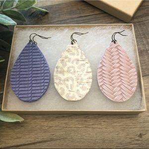 Pastel Leather Earring Bundle